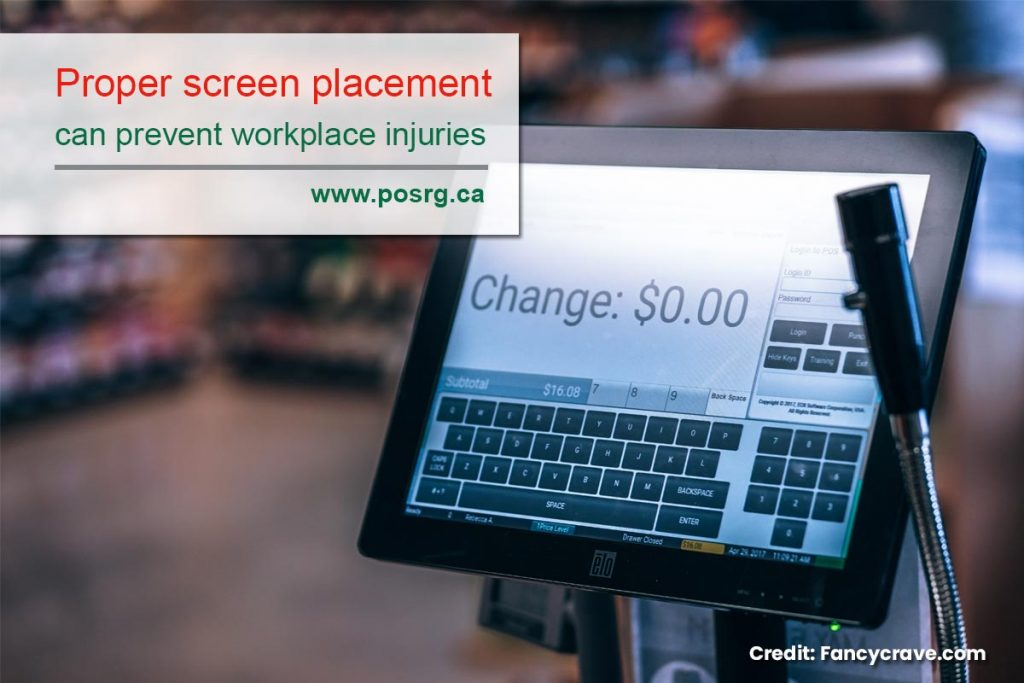 Proper screen placement can prevent workplace injuries
