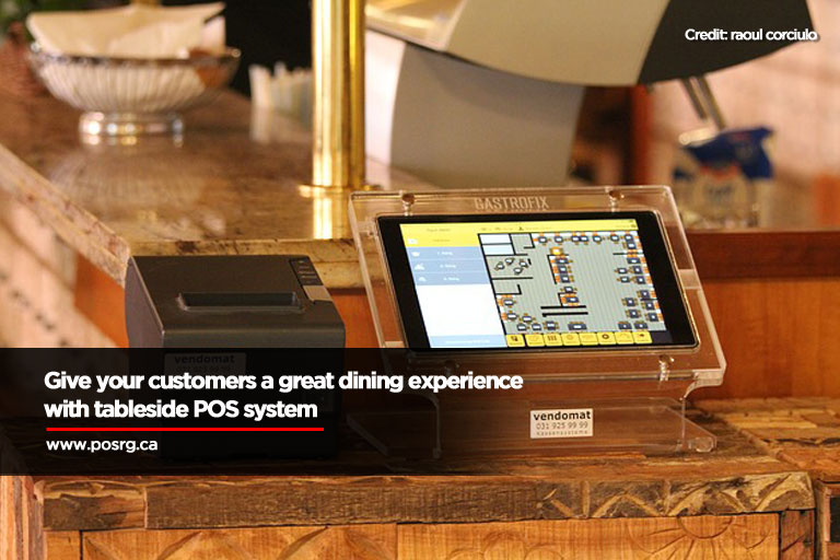 Give your customers a great dining experience with tableside POS system