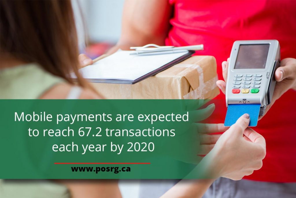 Mobile payments are expected to reach 67.2 transactions each year by 2020