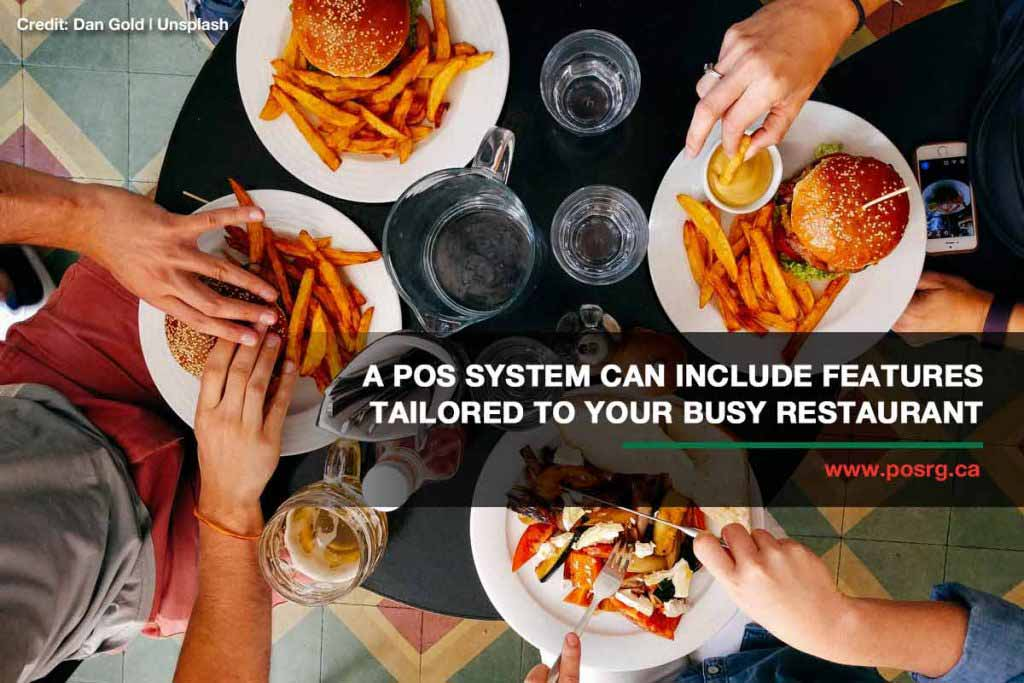 A POS system can include features tailored to your busy restaurant