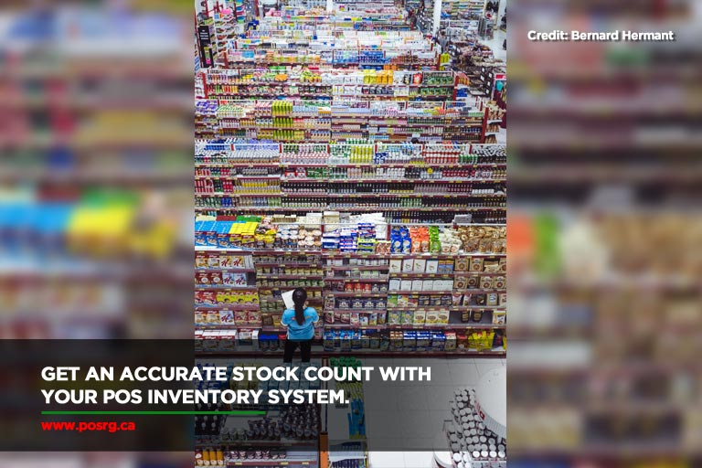 Get an accurate stock count with your POS inventory system.