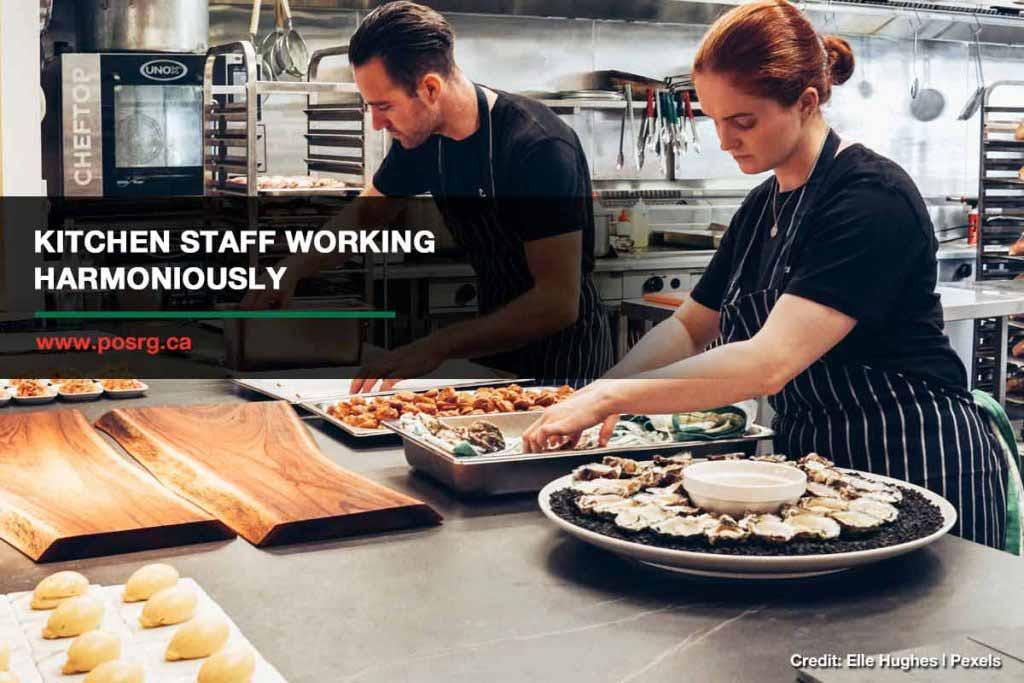 Kitchen staff working harmoniously