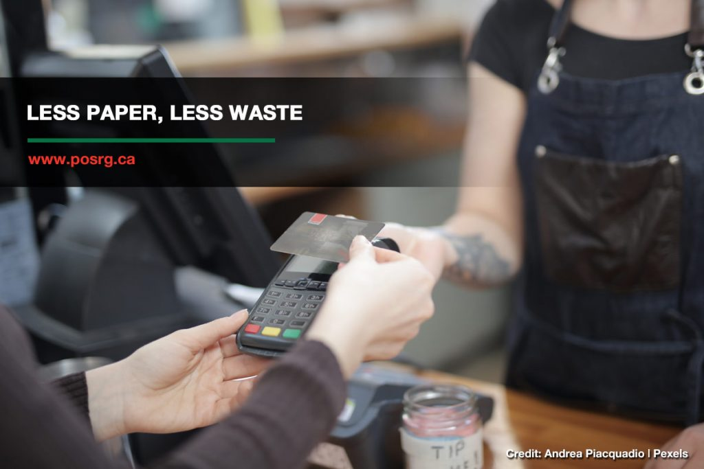 Less paper, less waste