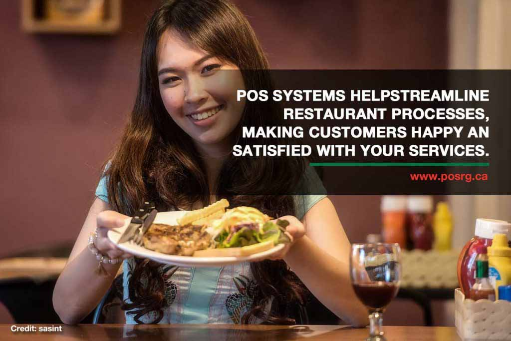 POS systems help streamline restaurant processes, making customers happy and satisfied with your services.