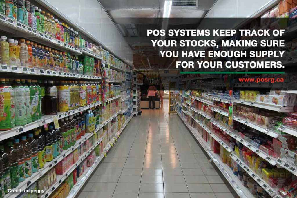 POS systems keep track of your stocks, making sure you have enough supply for your customers.
