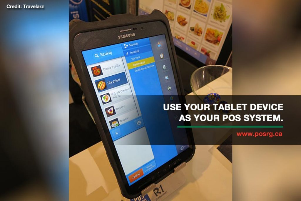 Use your tablet device as your POS system.