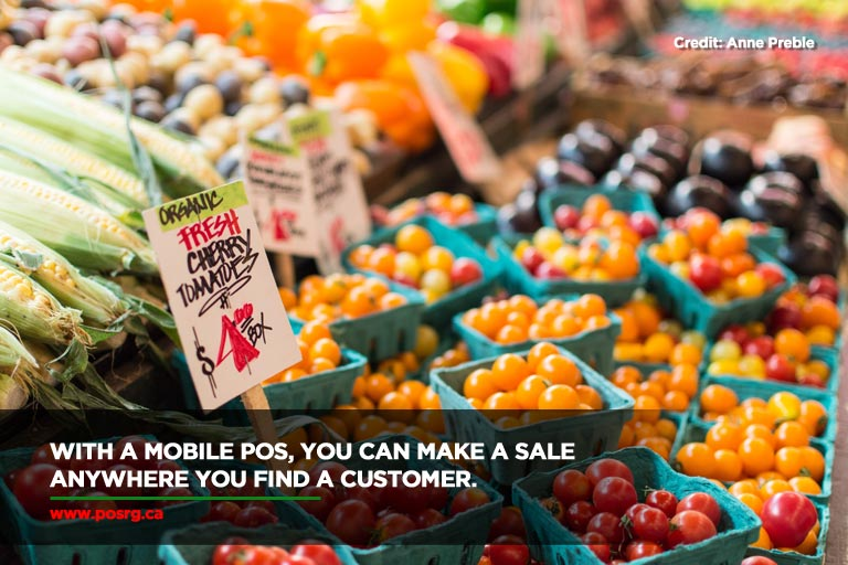 With a mobile POS, you can make a sale anywhere you find a customer.