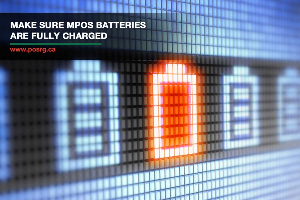 Make sure mPOS batteries are fully charged