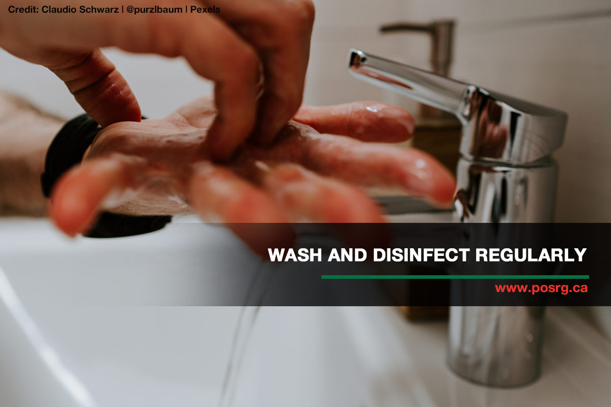 wash and disenfect